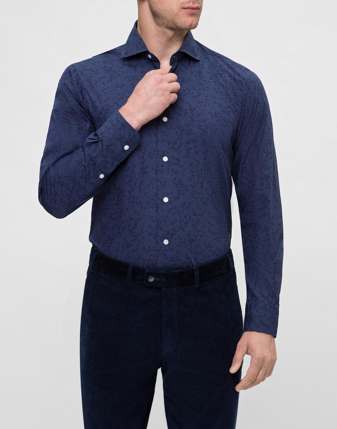 Мужская синяя рубашка Barba S554801U-2