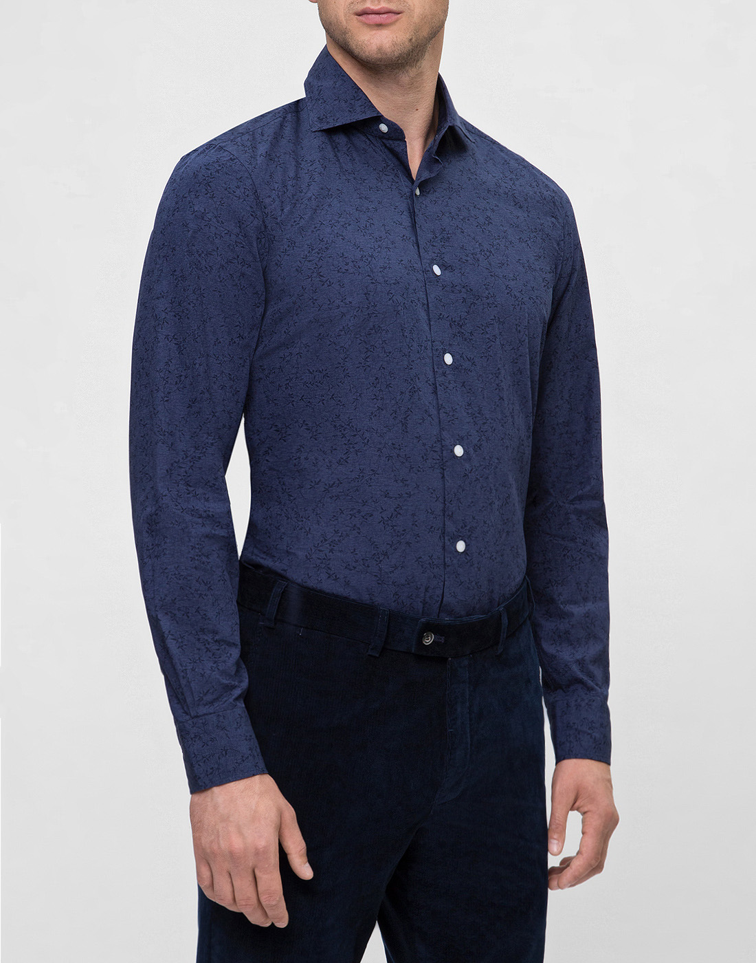Мужская синяя рубашка Barba S554801U-3