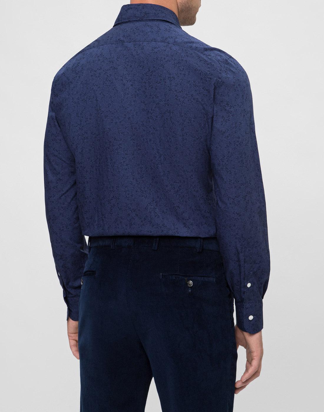 Мужская синяя рубашка Barba S554801U-4