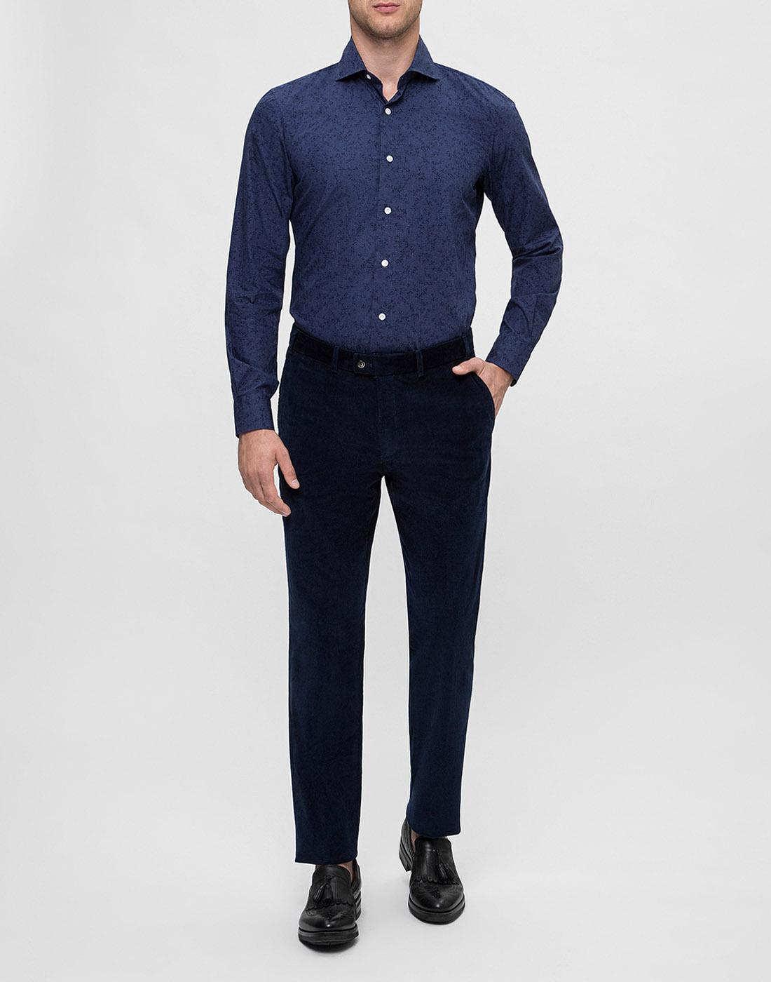 Мужская синяя рубашка Barba S554801U-5