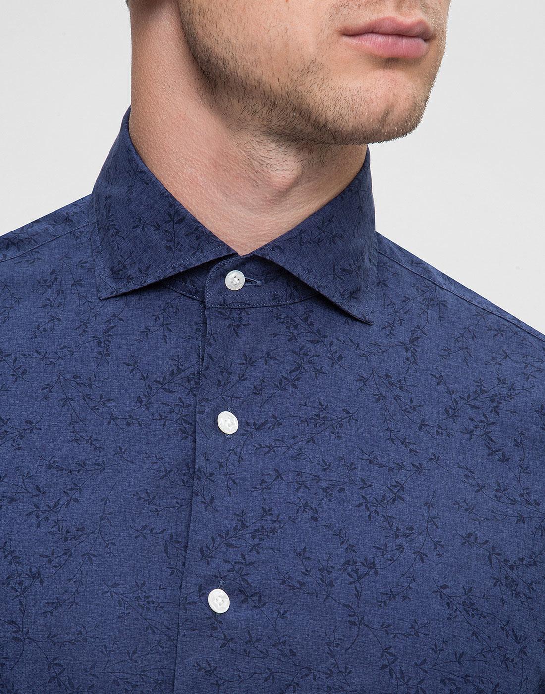Мужская синяя рубашка Barba S554801U-6