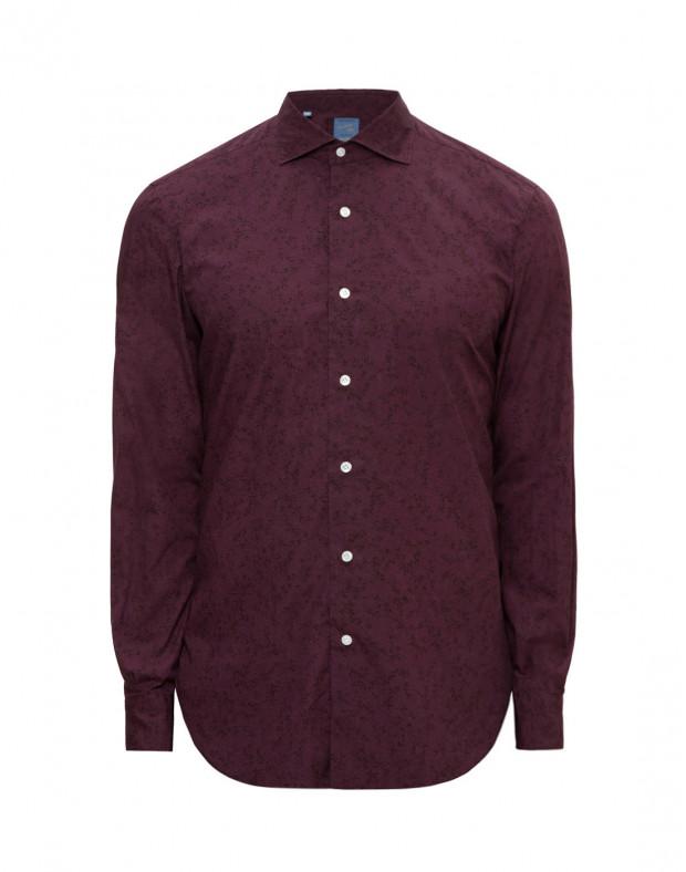 Мужская бордовая рубашка с принтом