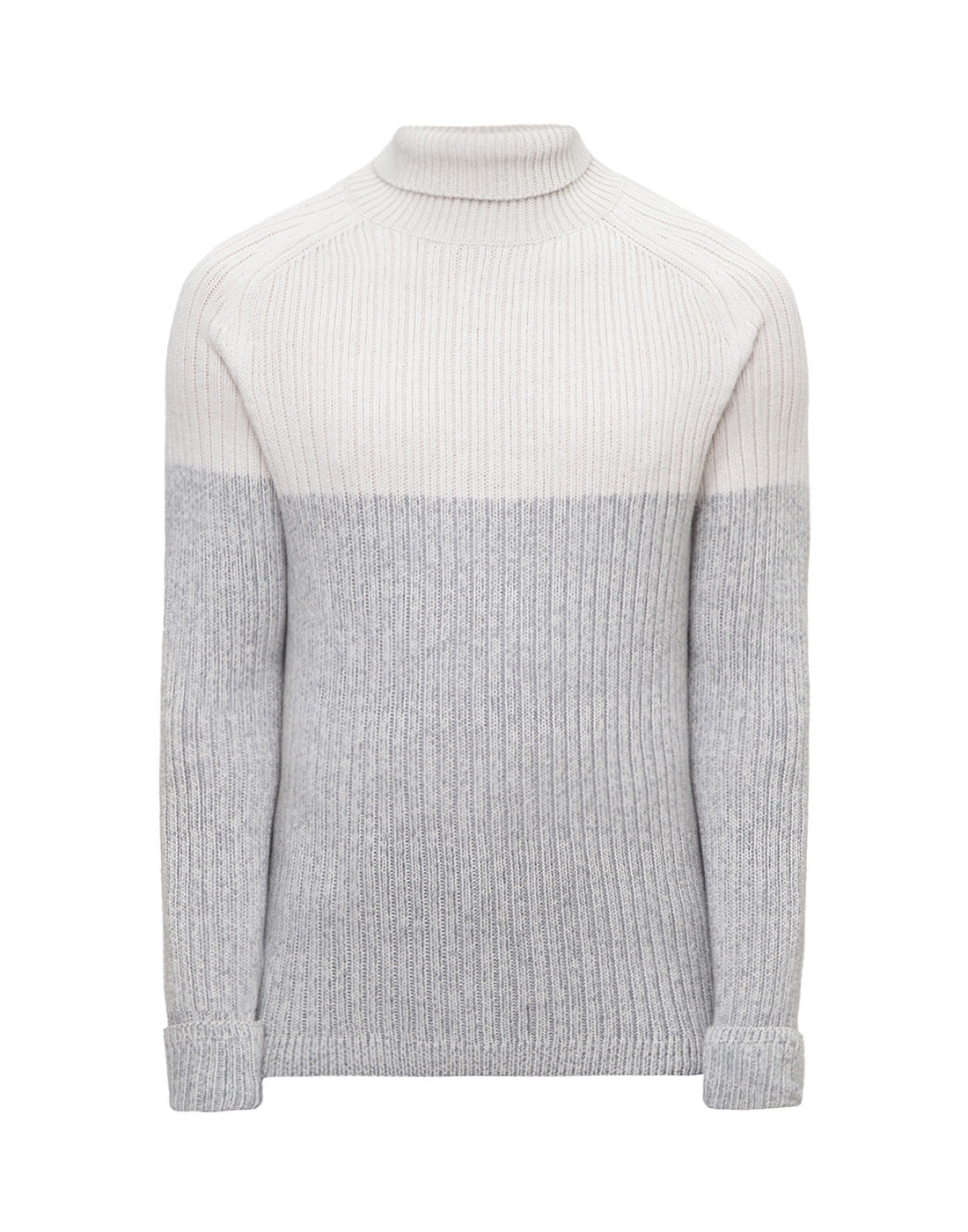 Мужской белый шерстяной свитер