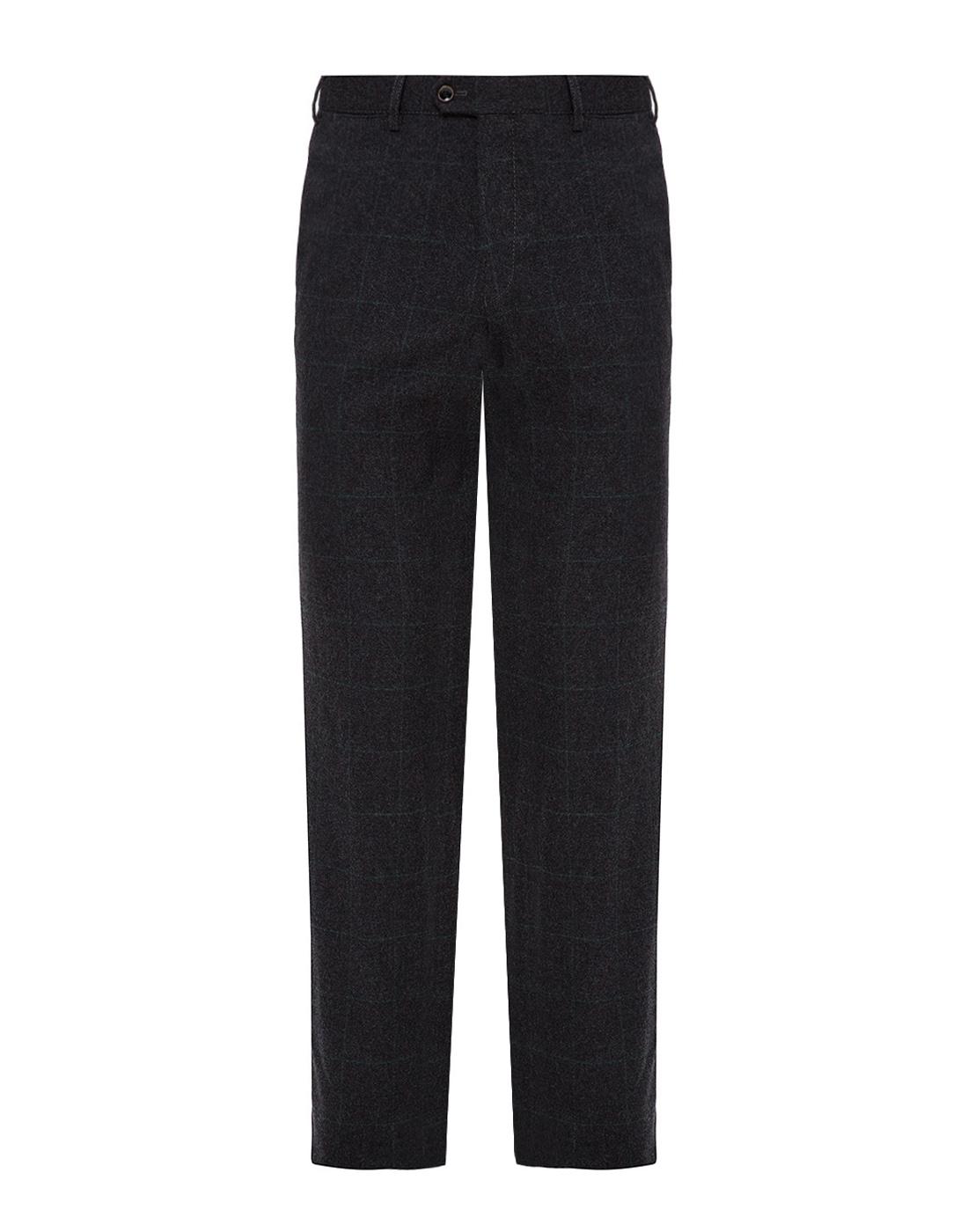 Мужские темно-серые шерстяные брюки в клетку Hiltl  S12331 11 58300-1