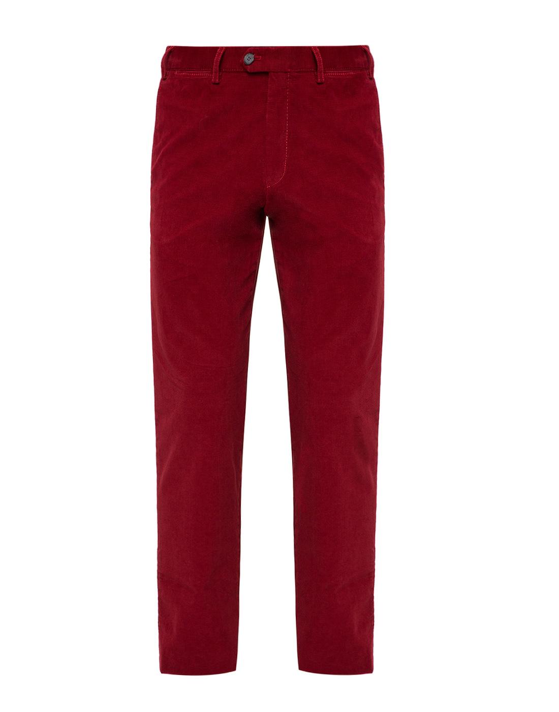 Мужские красные вельветовые брюки