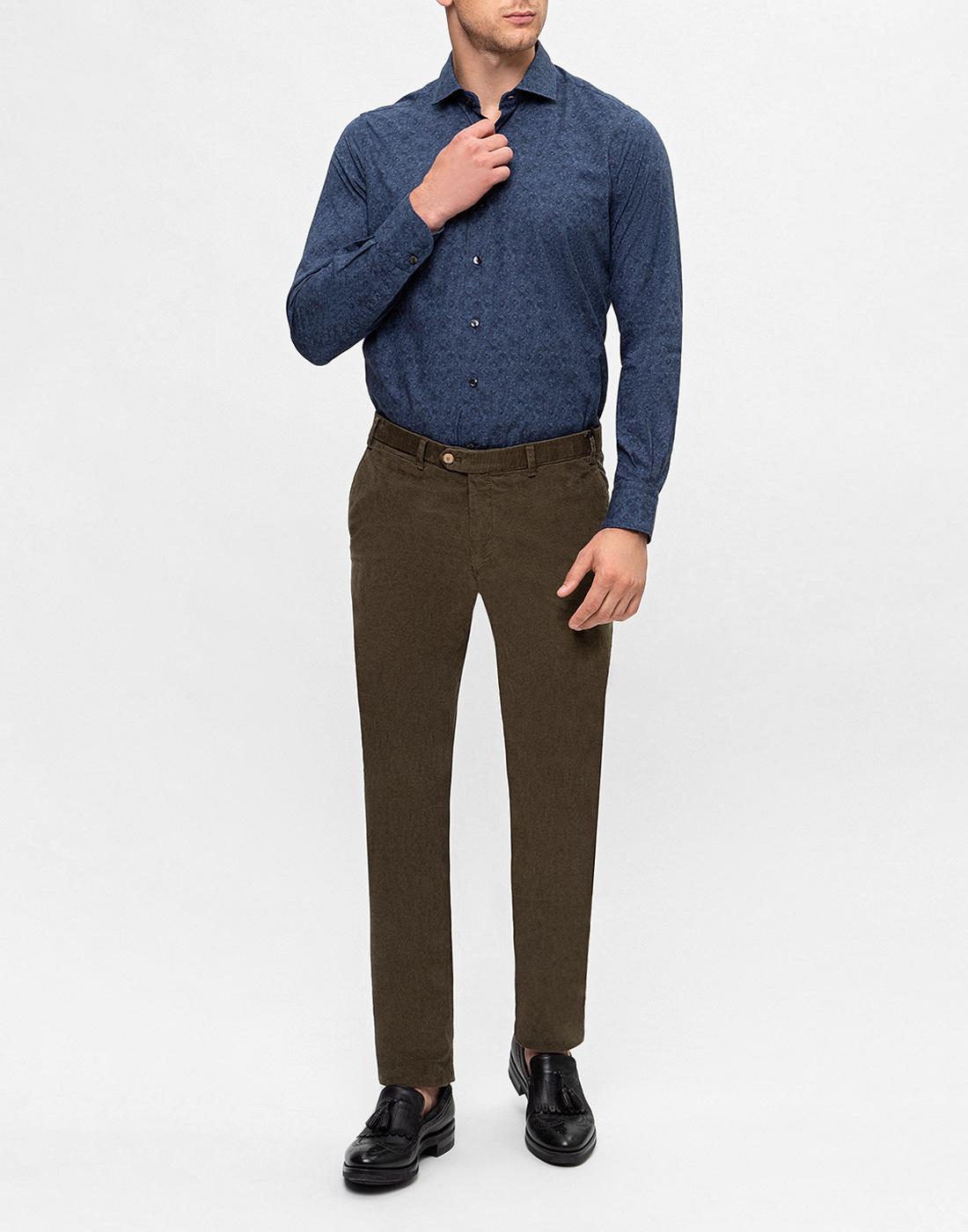 Мужские оливковые вельветовые брюки Hiltl  S72523 23 58300-5