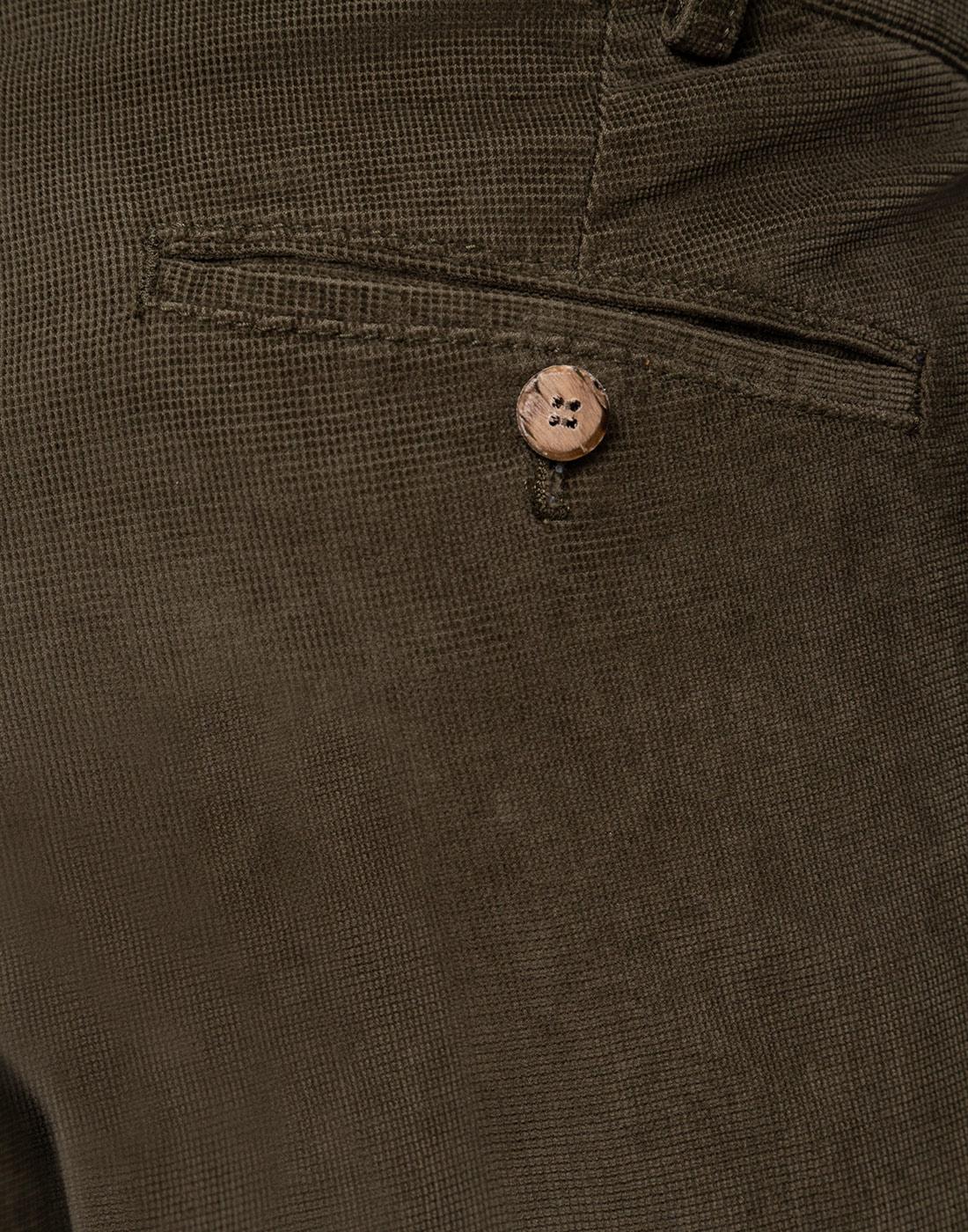 Мужские оливковые вельветовые брюки Hiltl  S72523 23 58300-6