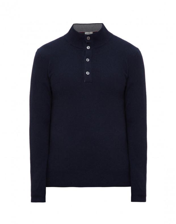 Мужской темно-синий шерстяной свитер