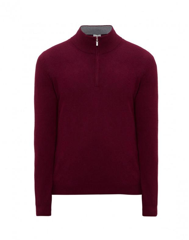Мужской бордовый шерстяной свитер