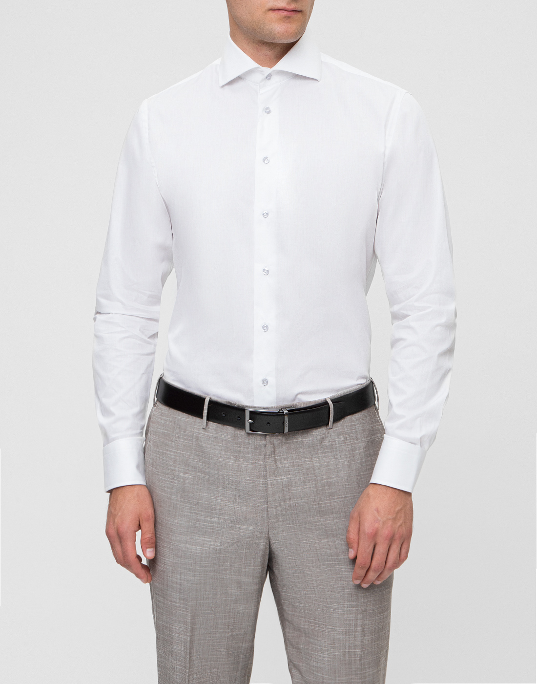 Мужская белая рубашка Profuomo SPPQH1C1002-2