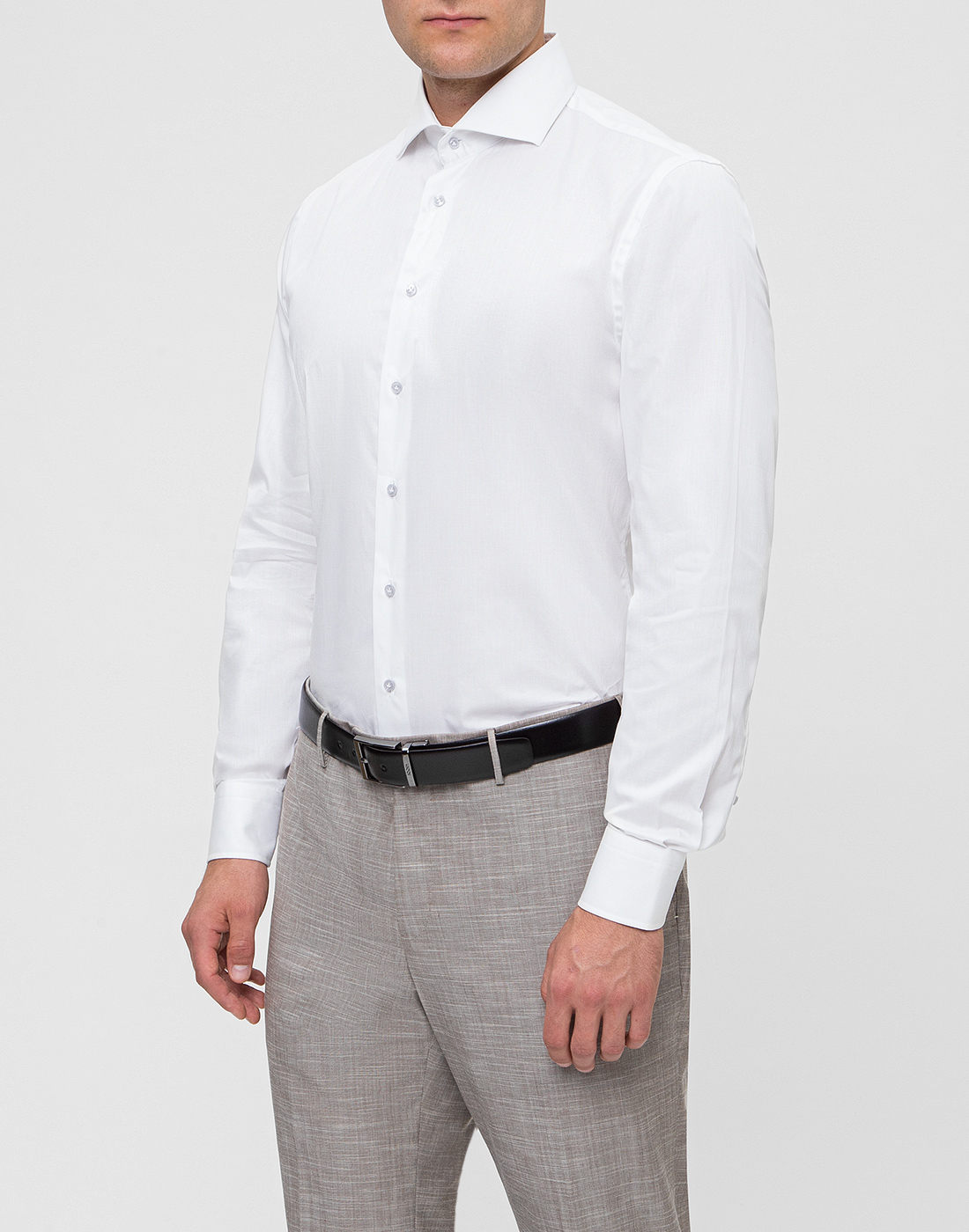 Мужская белая рубашка Profuomo SPPQH1C1002-3