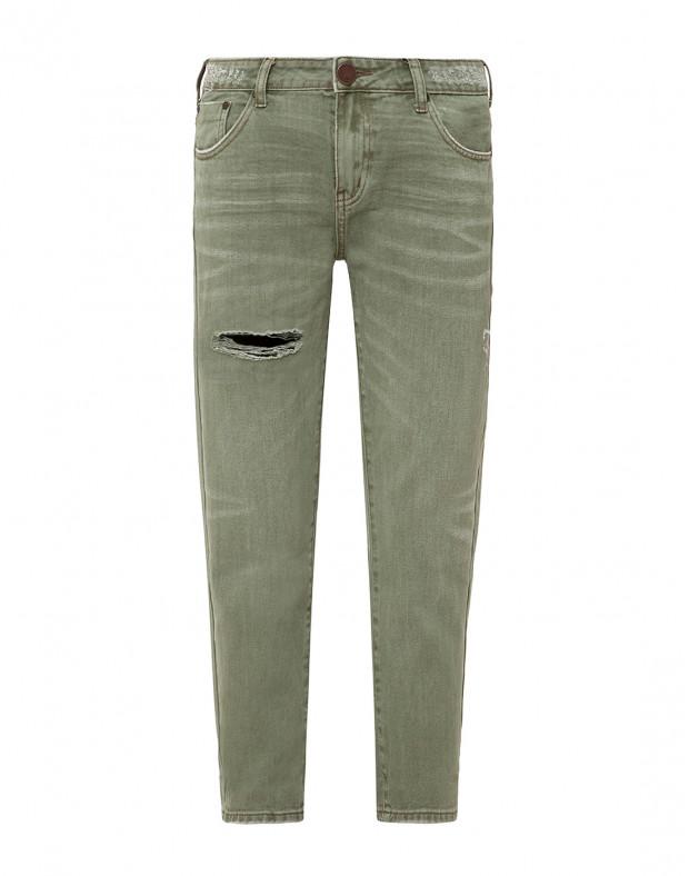 Женские зеленые джинсы