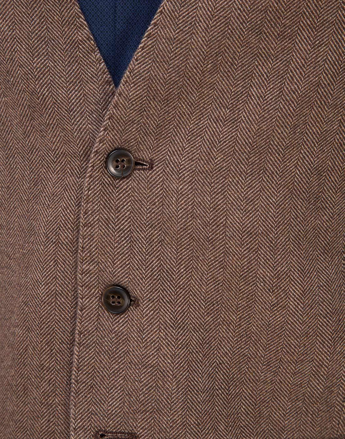 Мужской коричневый шерстяной жилет Lubiam S95078/05 1470-6