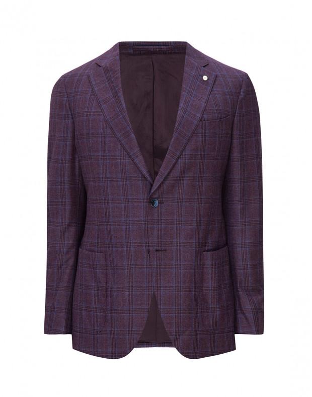 Мужской фиолетовый шерстяной блейзер