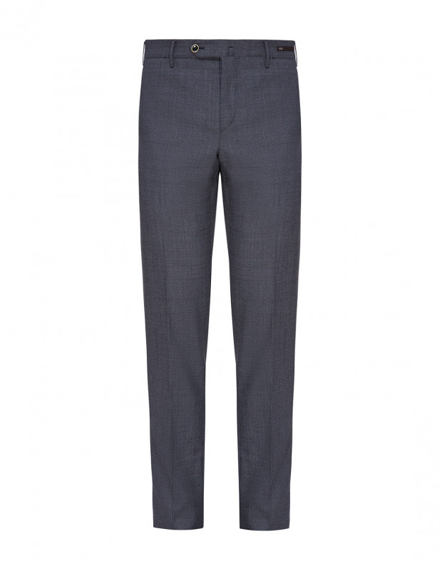 Мужские темно-синие шерстяные брюки