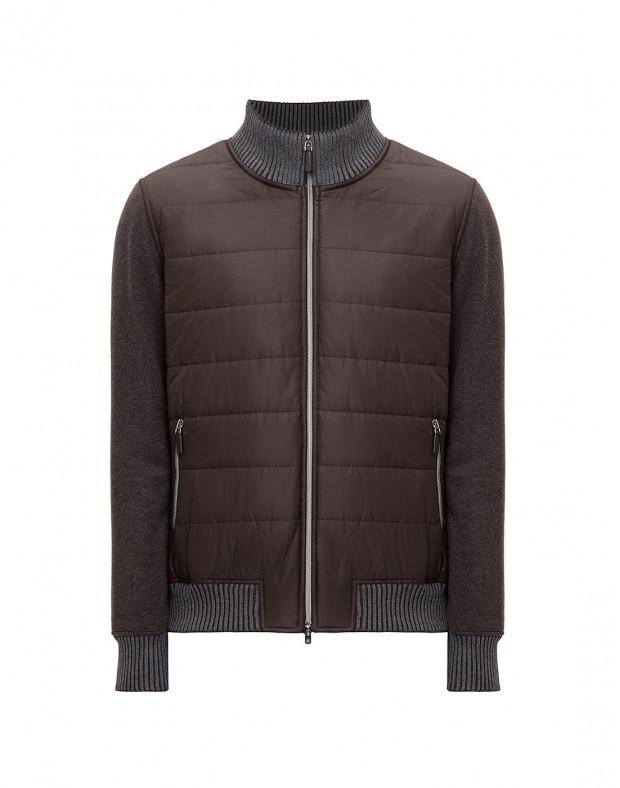 Мужская коричневая пуховая куртка