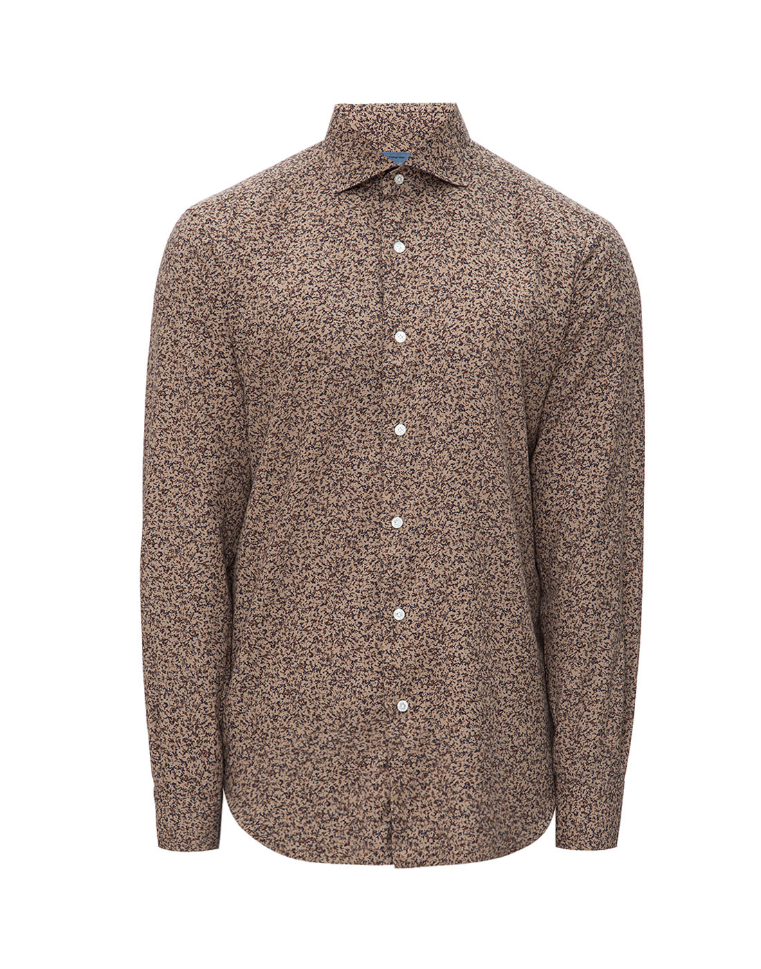 Мужская коричневая рубашка с принтом Barba SD2U133601602U-1