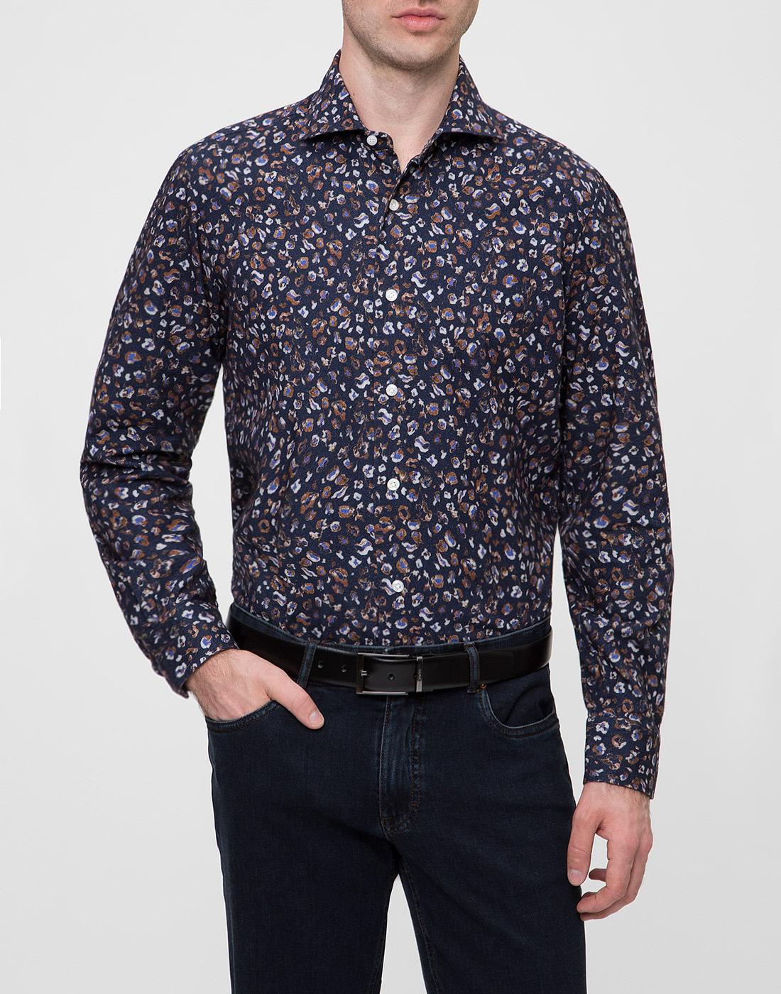 Мужская синяя рубашка Barba SD2U133606501U-2