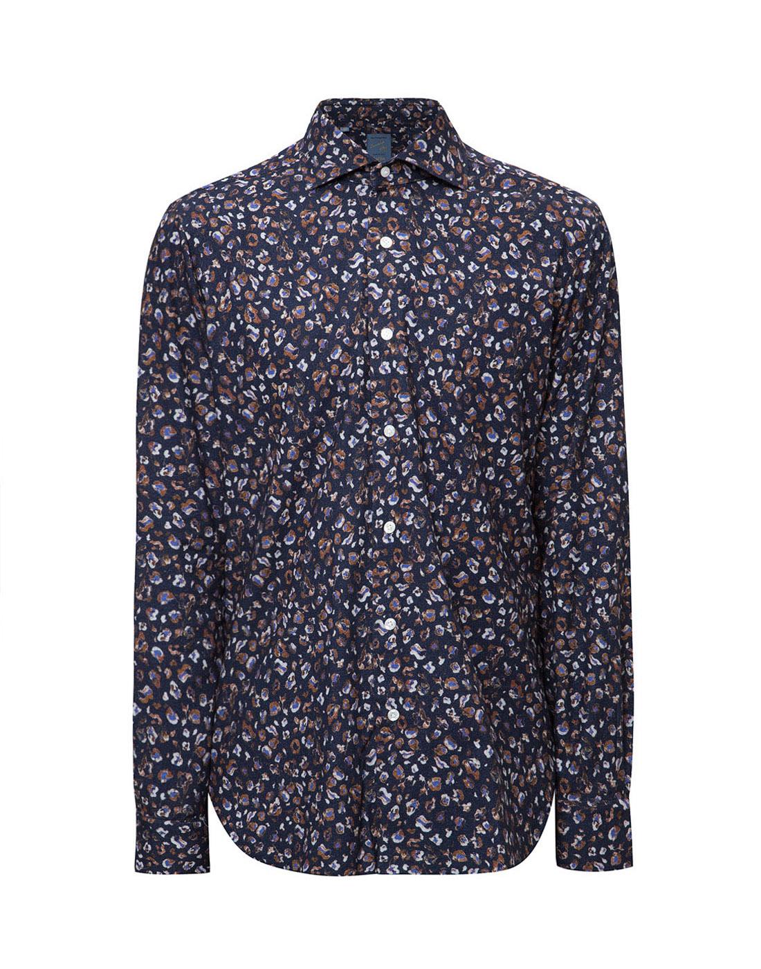 Мужская синяя рубашка Barba SD2U133606501U-1
