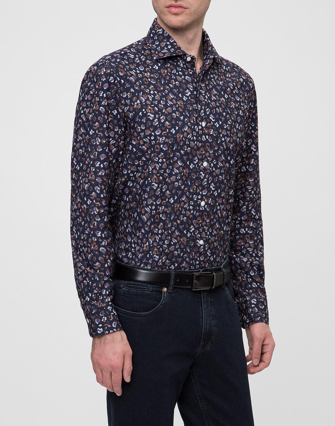 Мужская синяя рубашка Barba SD2U133606501U-3