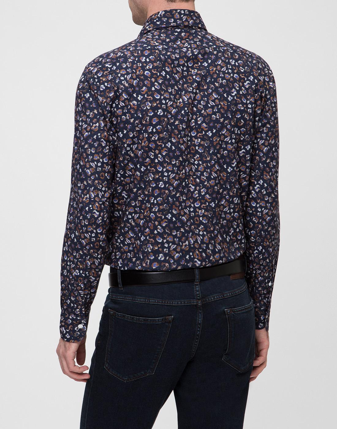 Мужская синяя рубашка Barba SD2U133606501U-4