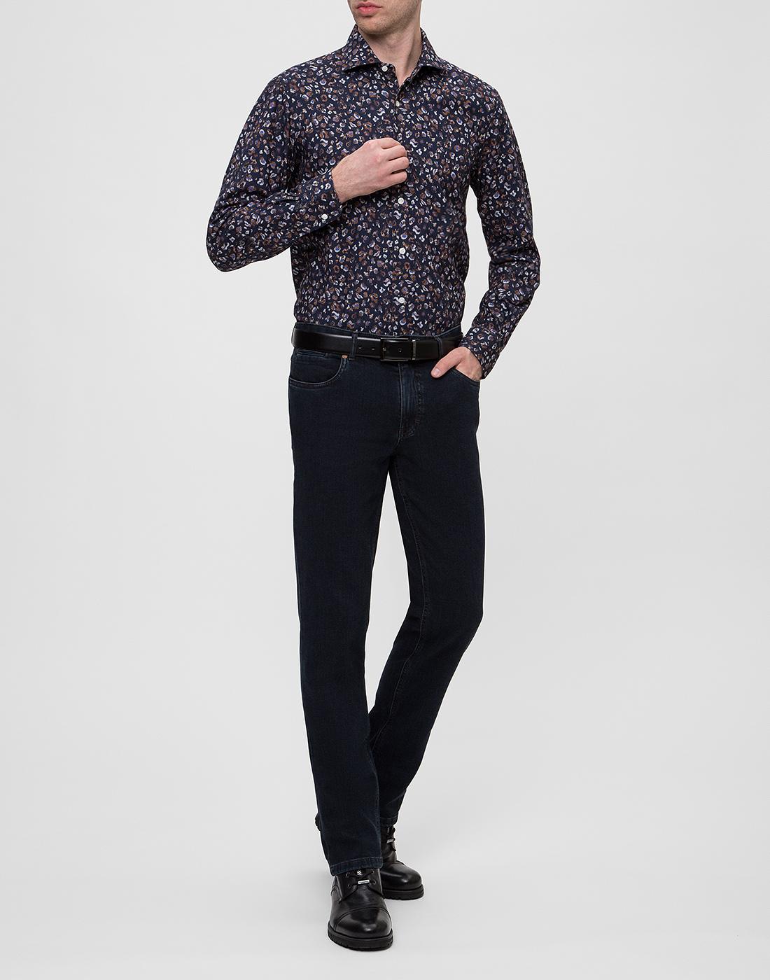 Мужская синяя рубашка Barba SD2U133606501U-5