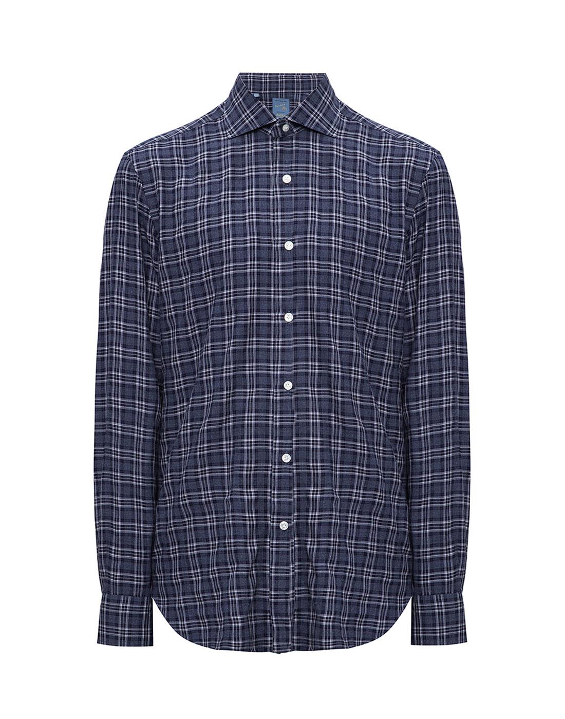 Мужская синяя рубашка в клетку Barba SD2U133603601X-1