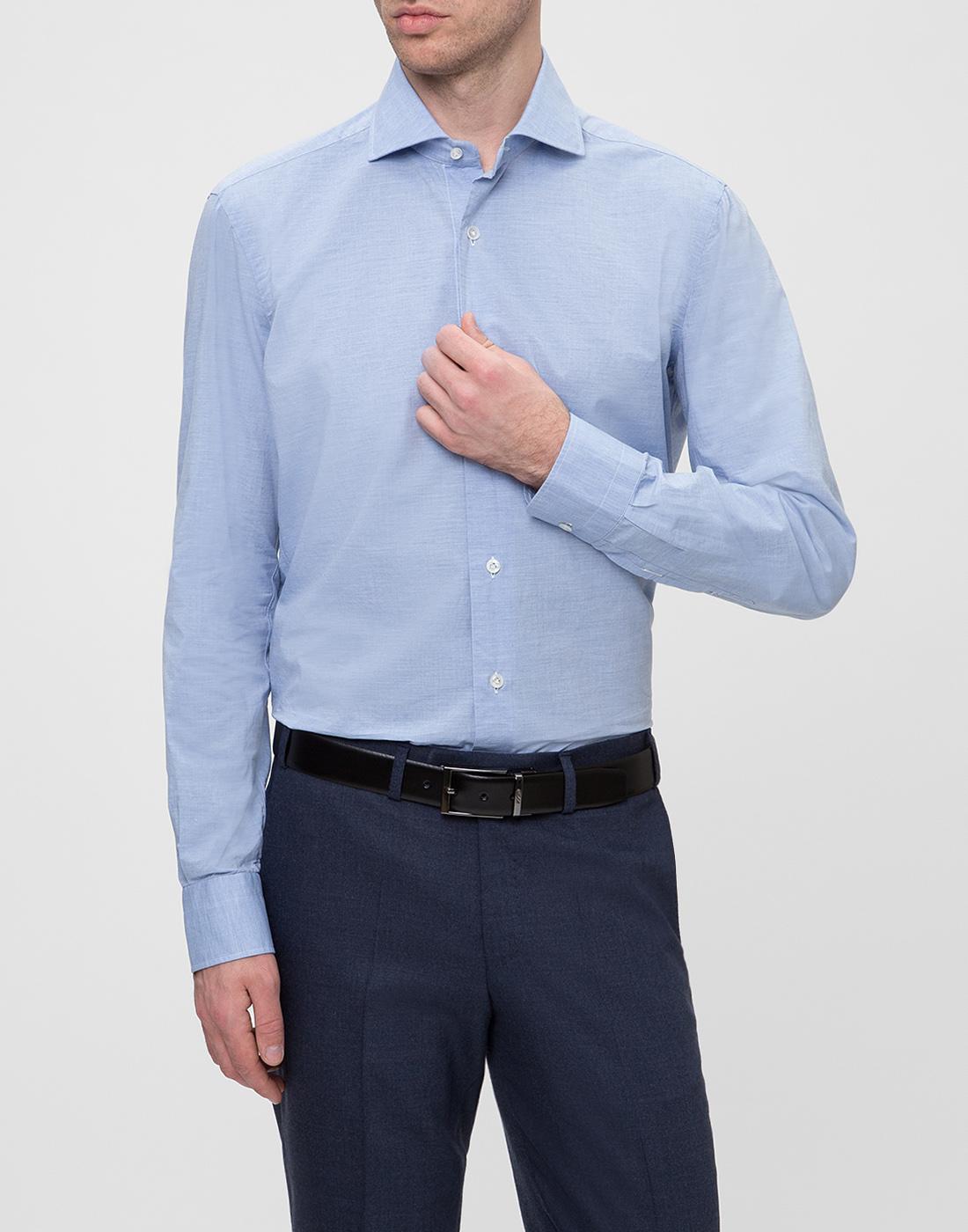 Мужская голубая рубашка Barba SK4U132597401U-2