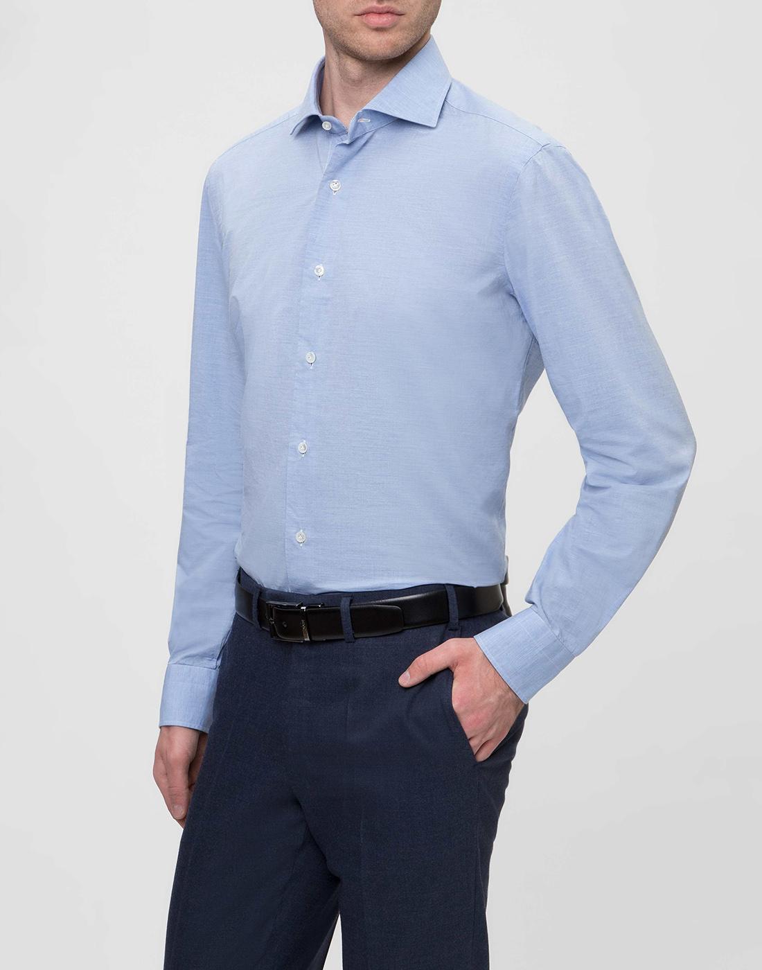 Мужская голубая рубашка Barba SK4U132597401U-3