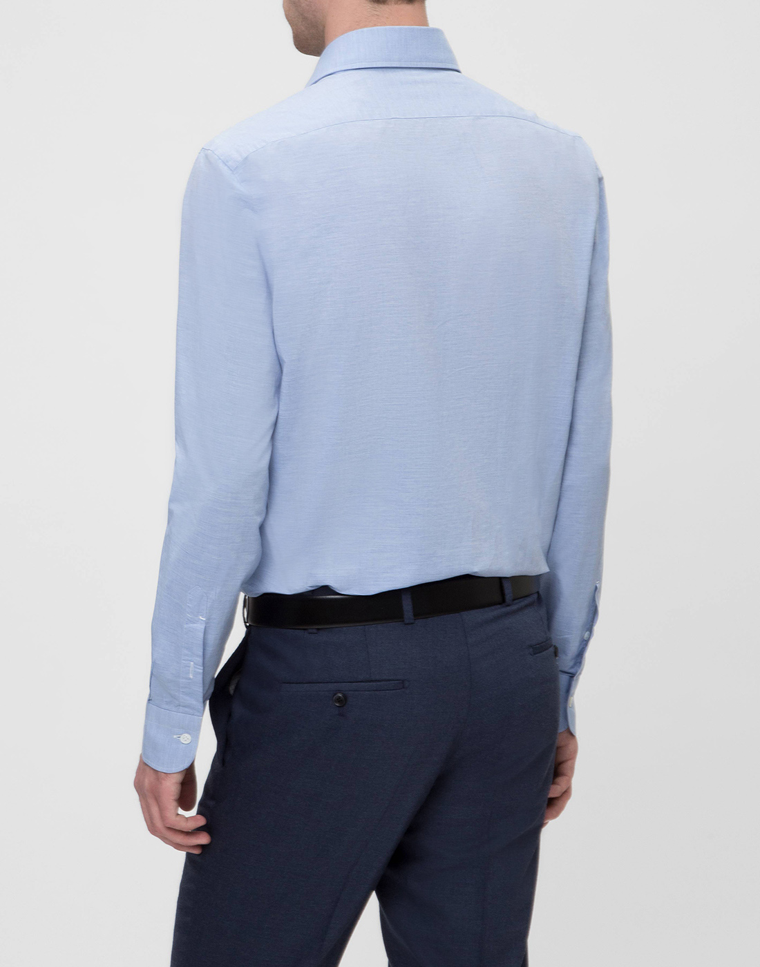 Мужская голубая рубашка Barba SK4U132597401U-4