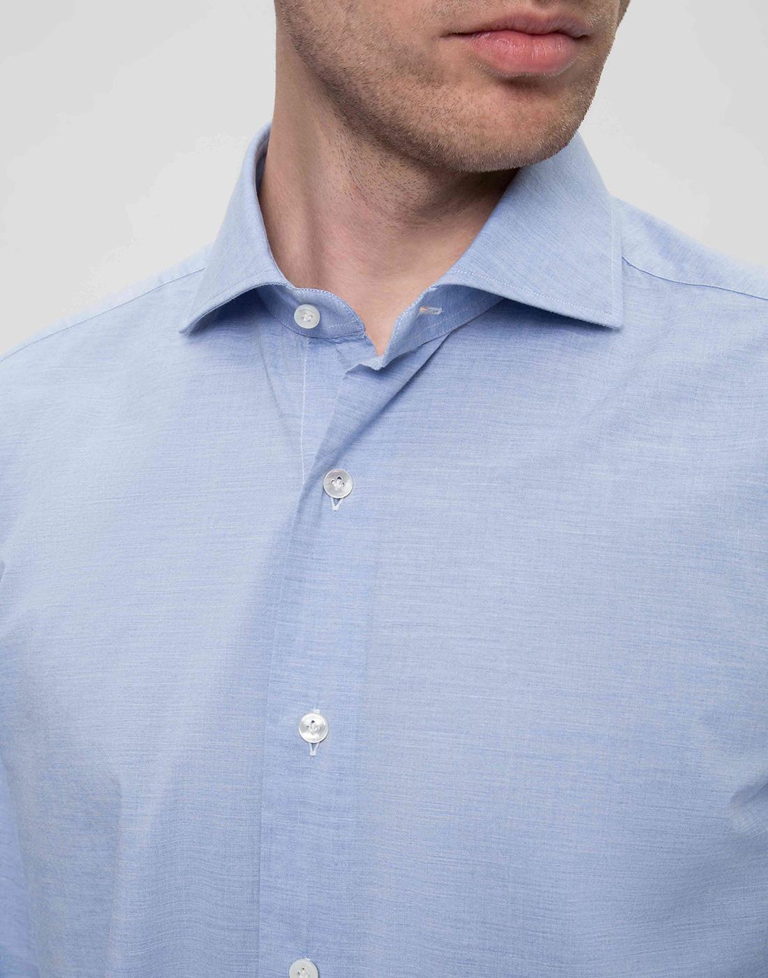 Мужская голубая рубашка Barba SK4U132597401U-6