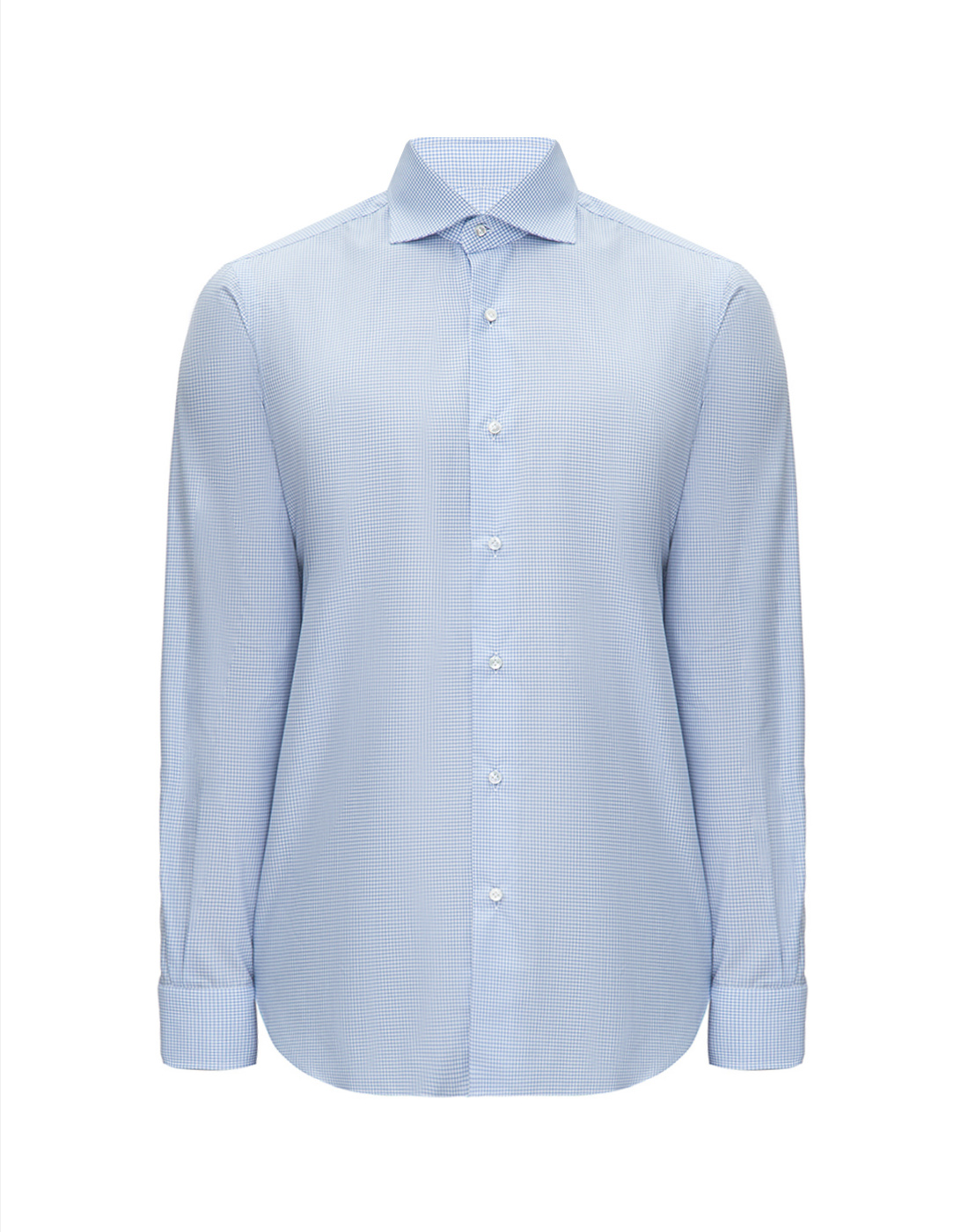 Мужская голубая рубашка в клетку Barba SD4U132593804U-1