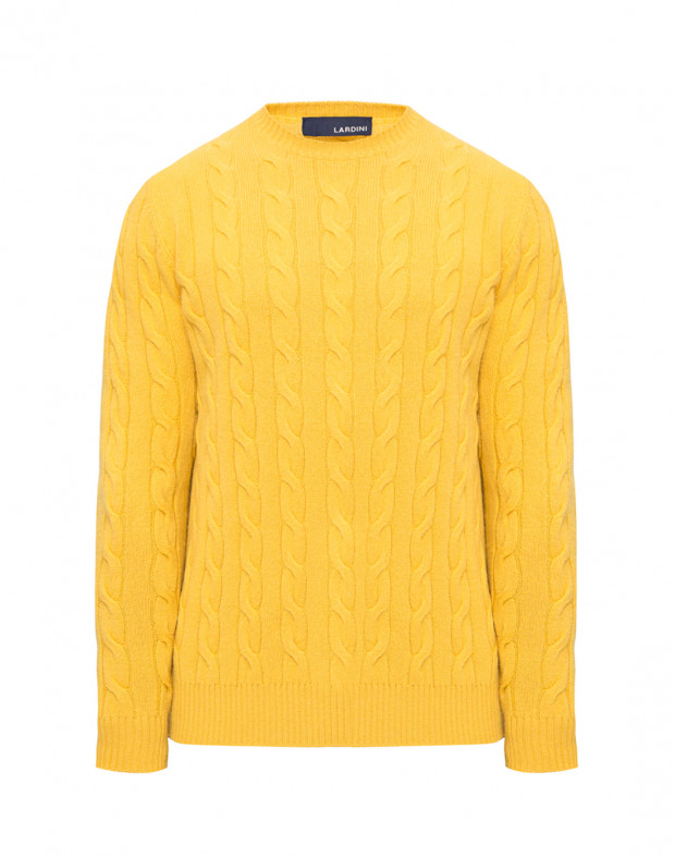 Мужской желтый шерстяной джемпер