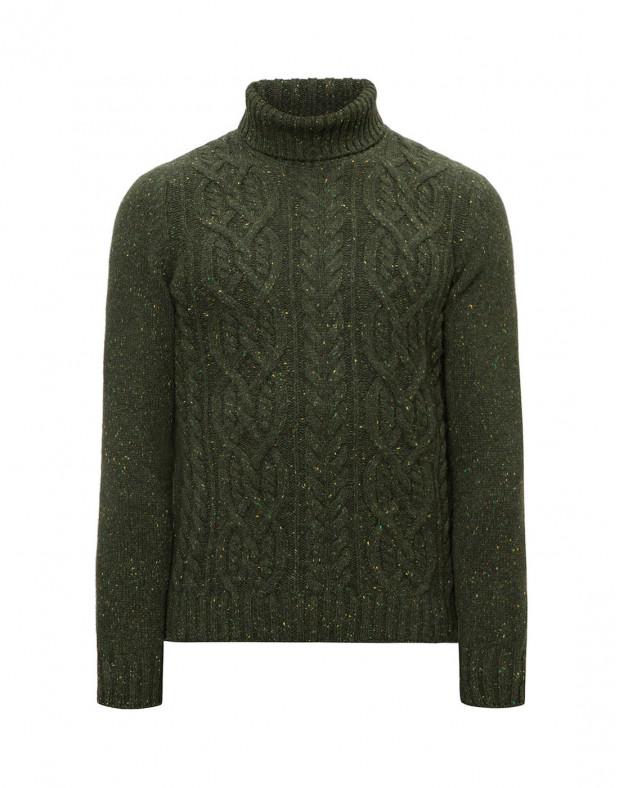 Мужской зеленый кашемировый свитер