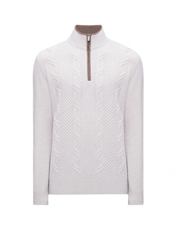 Мужской светло-серый шерстяной свитер