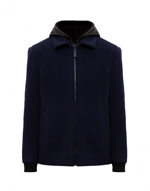 Мужское синее шерстяное пальто