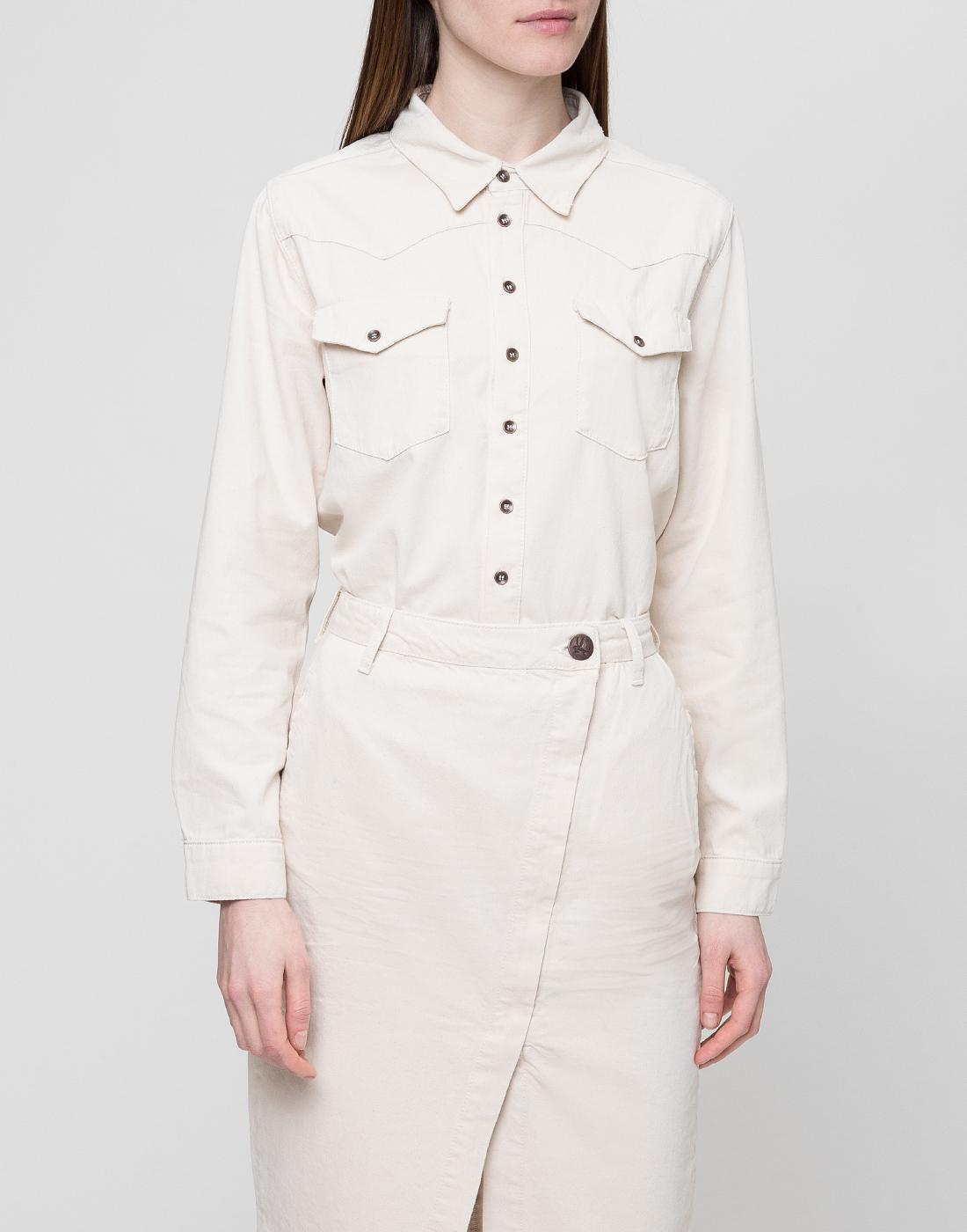 Женская белая рубашка Oneteaspoon S22700-2