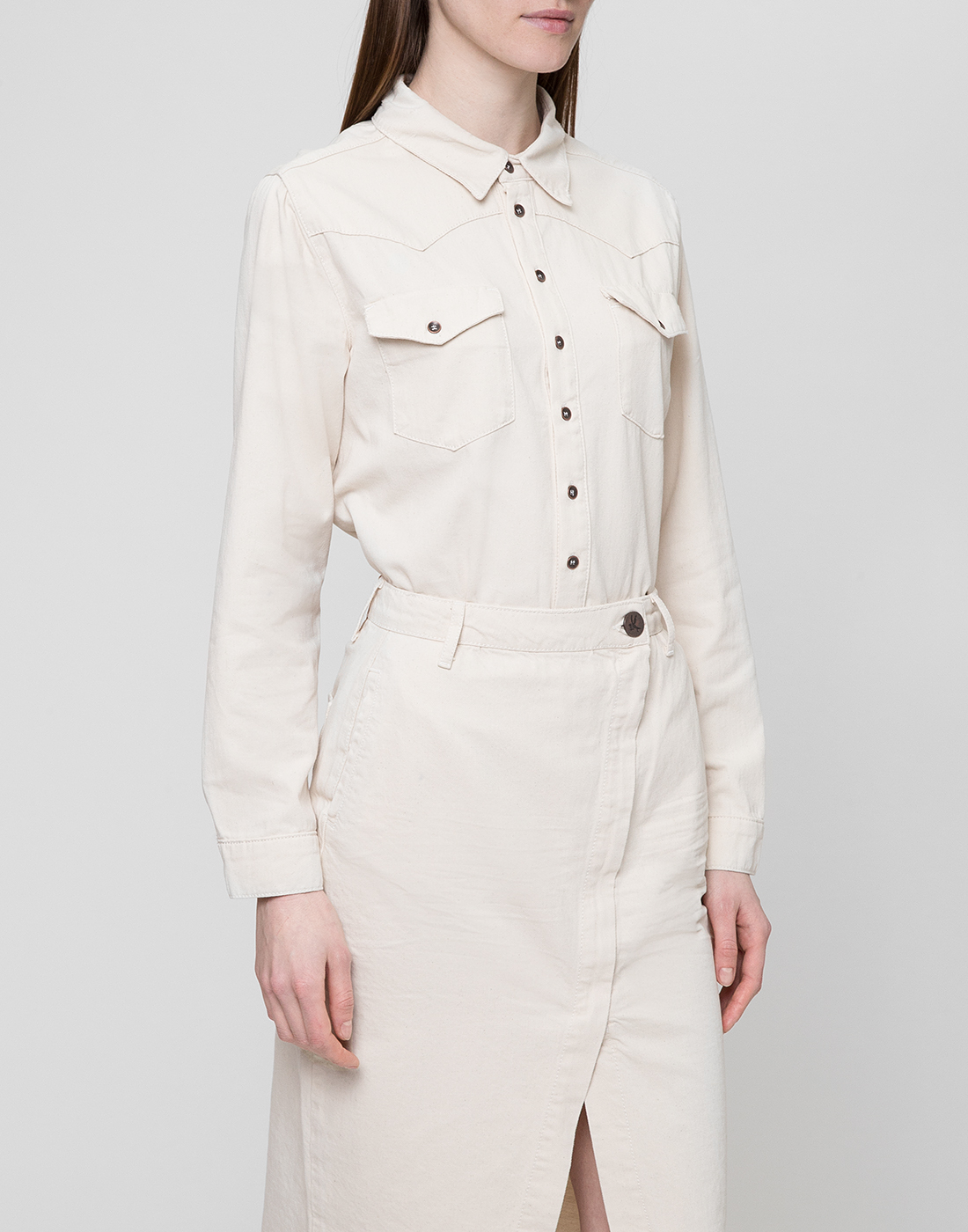 Женская белая рубашка Oneteaspoon S22700-3