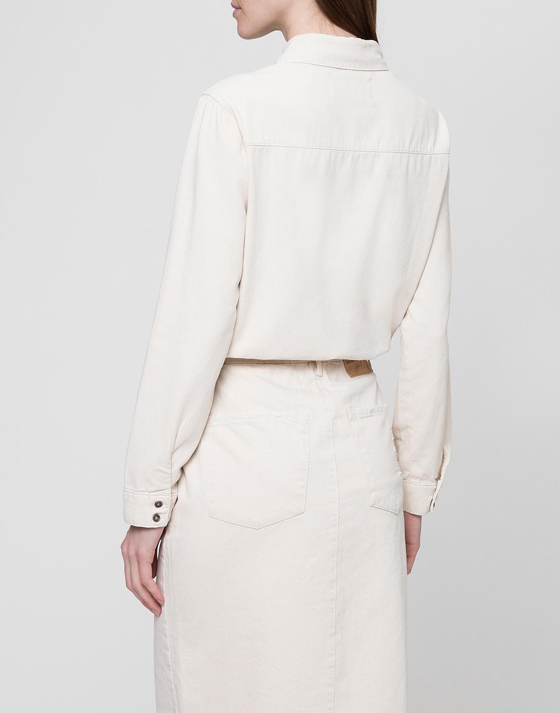 Женская белая рубашка Oneteaspoon S22700-4