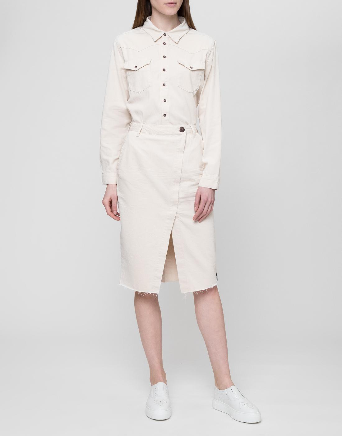 Женская белая рубашка Oneteaspoon S22700-5
