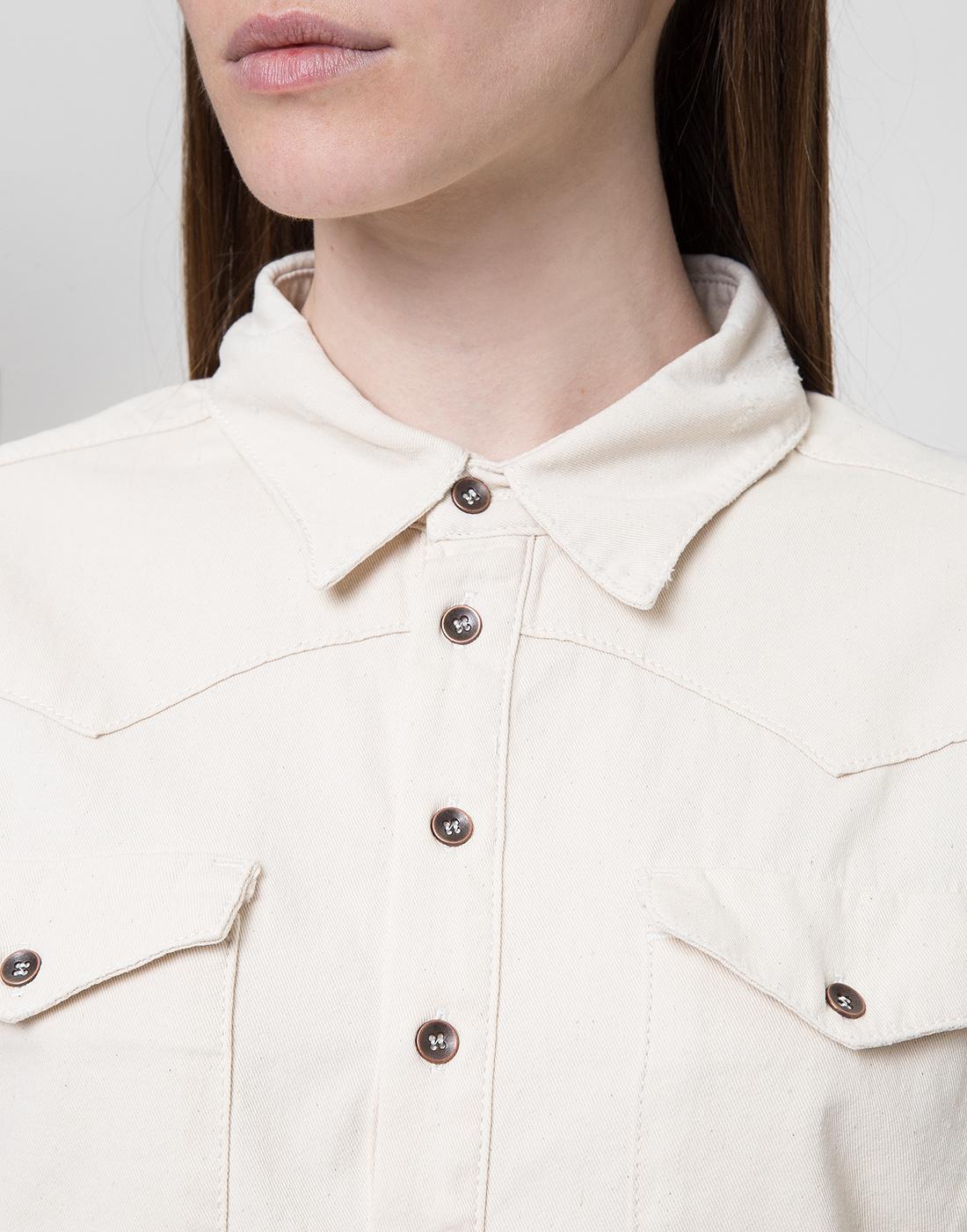 Женская белая рубашка Oneteaspoon S22700-6