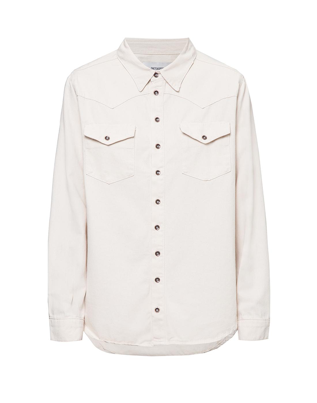 Женская белая рубашка Oneteaspoon S22700-1
