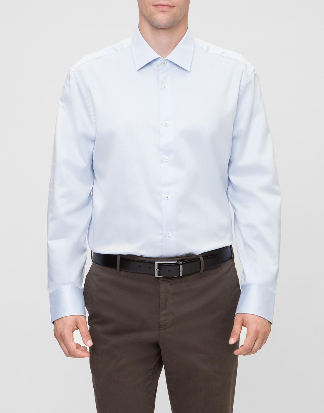 Мужская голубая рубашка Van Laack S130148/710-2