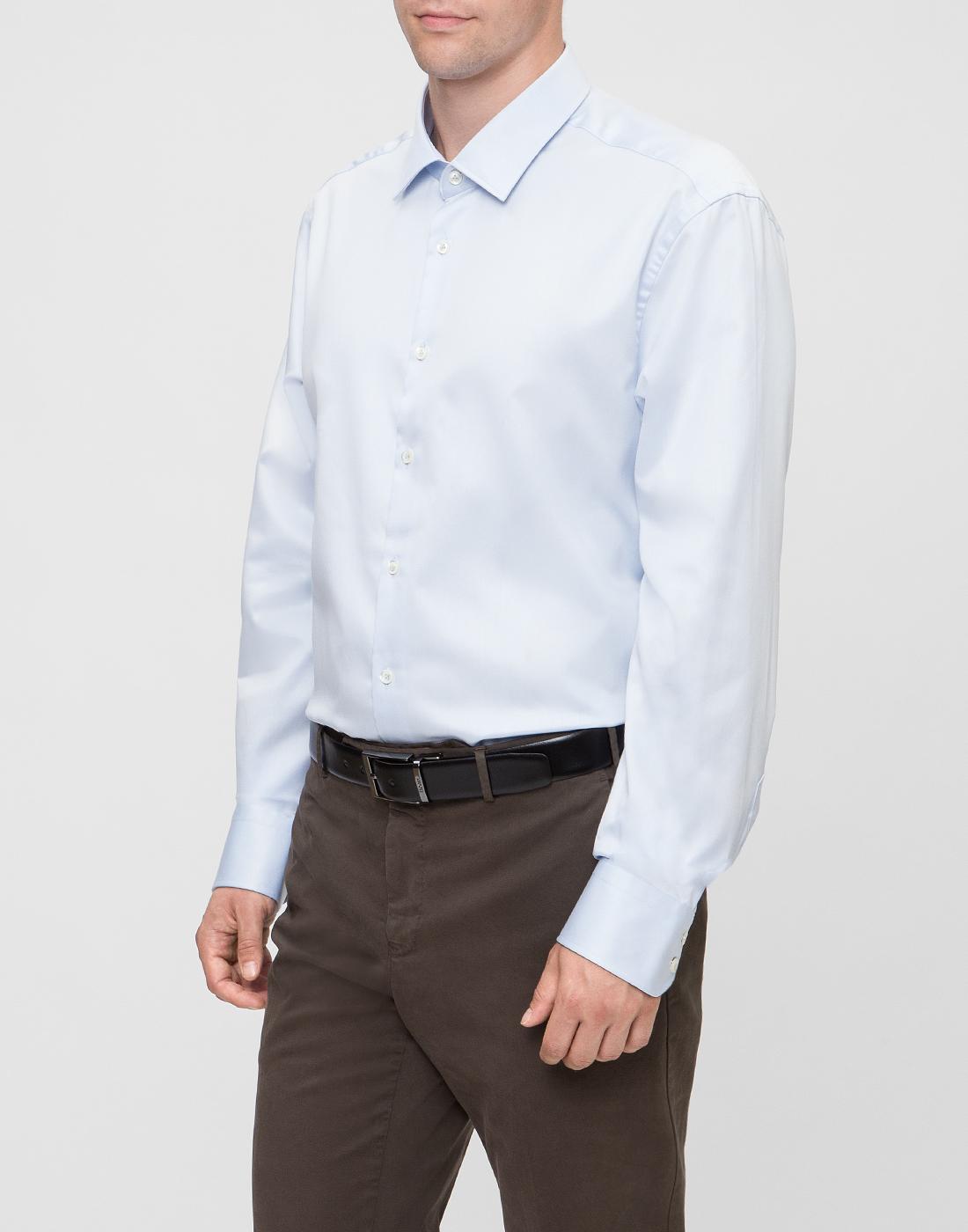 Мужская голубая рубашка Van Laack S130148/710-3