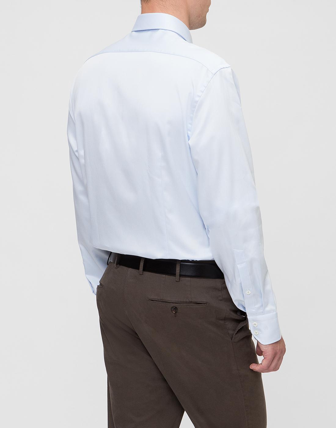 Мужская голубая рубашка Van Laack S130148/710-4