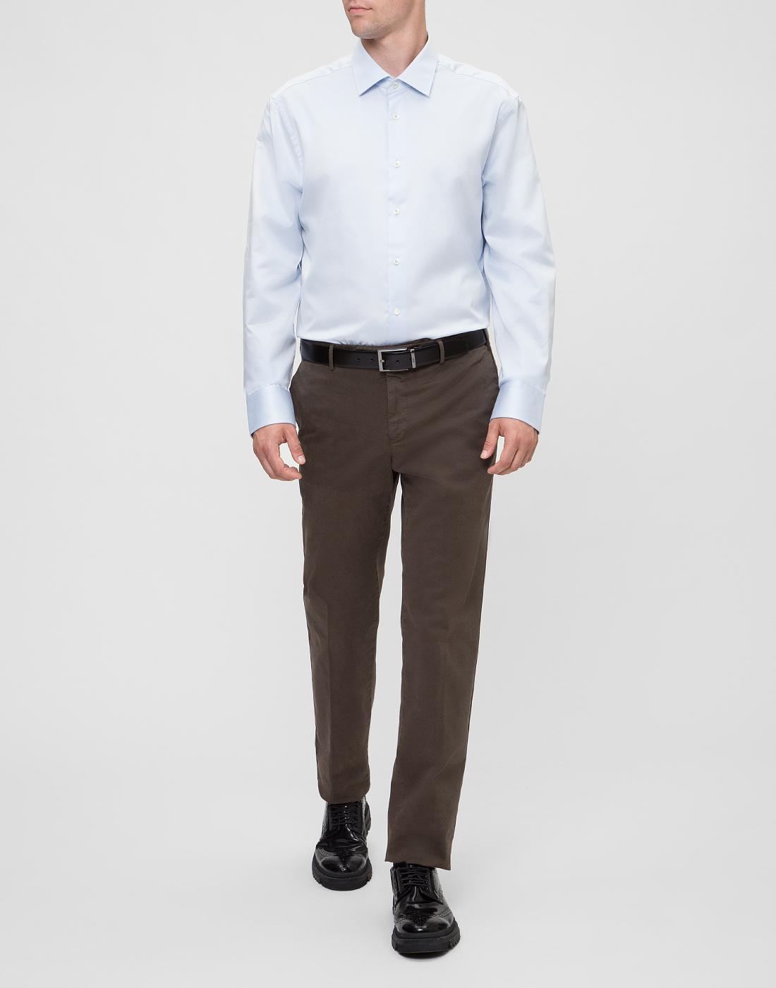 Мужская голубая рубашка Van Laack S130148/710-5
