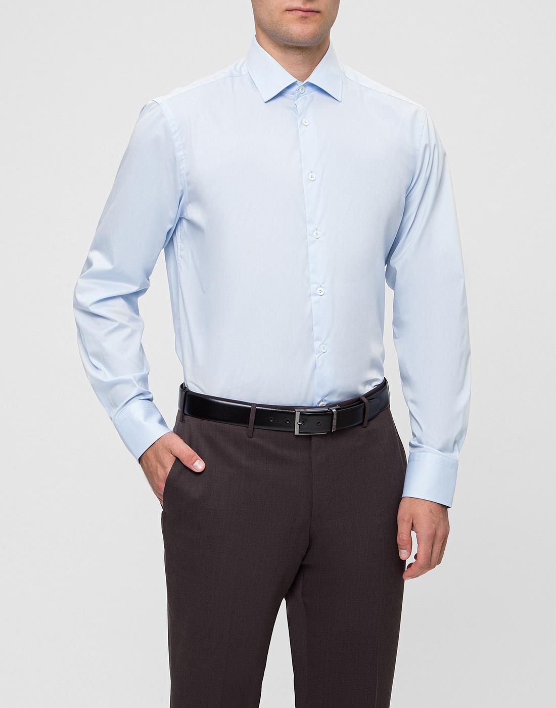 Мужская голубая рубашка Van Laack S150018/720-2