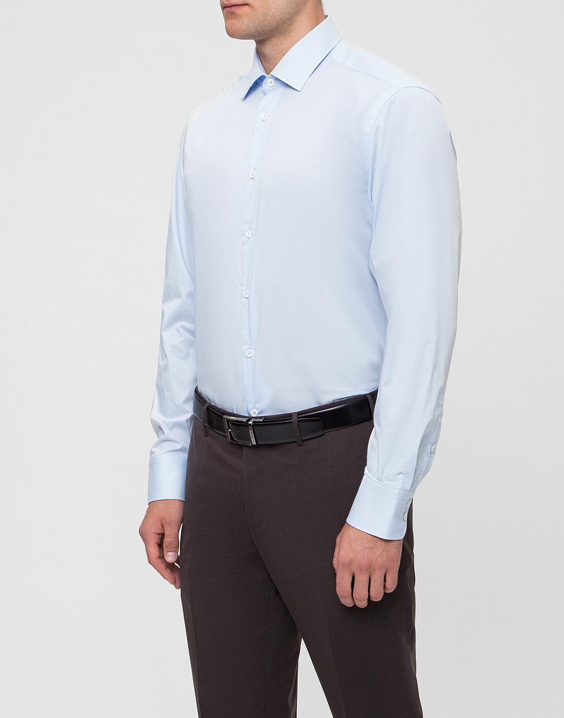 Мужская голубая рубашка Van Laack S150018/720-3