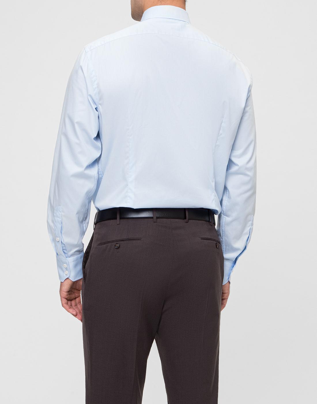 Мужская голубая рубашка Van Laack S150018/720-4