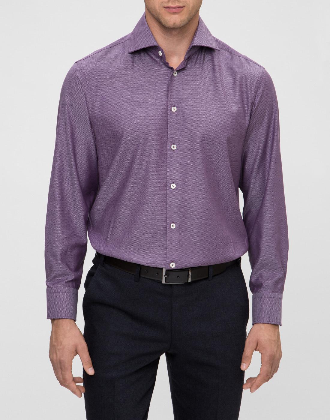 Мужская сиреневая рубашка Van Laack S151377/670-2